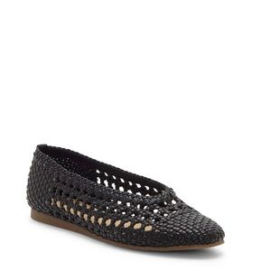 Lucky Brand Woven Leather Flat